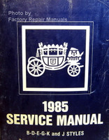 Fisher Body 1985 Service Manual B-D-E-G-K Styles