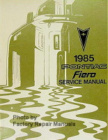 1985 Pontiac Fiero Service Manual