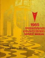1985 Pontiac Sunbird Service Manual