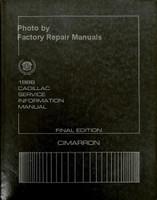 1986 Cadillac Service Information Final Edition Cimarron