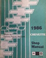 Chevrolet 1986 Cavalier Shop Manual