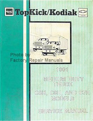 1991 Chevy Kodiak GMC TopKick Truck Factory Service Manual Original ...