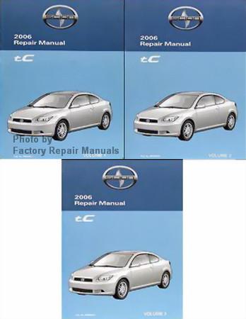 2006 scion tc factory service manual set original shop repair rh factoryrepairmanuals com repair manual 2005 scion tc repair manual 2006 scion xa