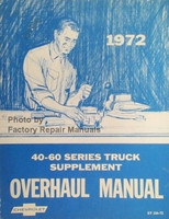 1972 Chevrolet Series 40-60 Series Truck Supplement Overhaul Manual