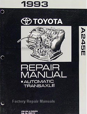 1993 1997 toyota corolla 245e automatic transmission overhaul repair rh factoryrepairmanuals com toyota corolla 1993 service manual toyota corolla 1993 service manual