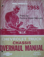 1968 Chevrolet Truck Chassis Overhaul Manual Series 10-60