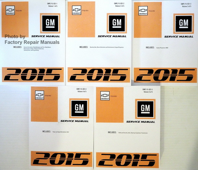 2015 Chevrolet Impala Transmission: 2015 Chevy Impala Factory Service Manual Set Original Shop