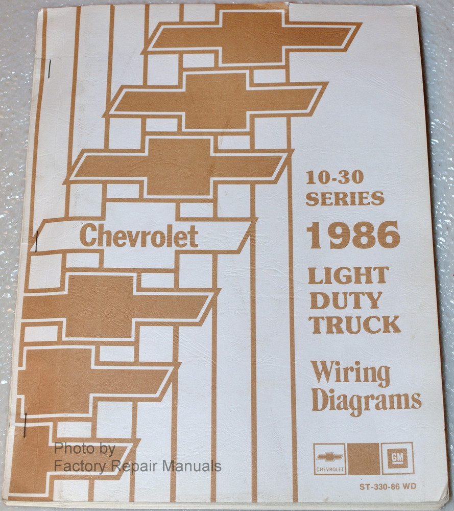 1986 chevy truck suburban van wiring diagrams c10 c20 c30 k10 k20 rh factoryrepairmanuals com 1983 Chevy Truck Wiring Diagram 1986 Chevy S10 Wiring Diagram