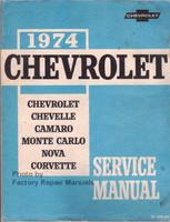 1974 Chevrolet Chevelle, Camaro, Monte Carlo, Nova, Corvette Service Manual