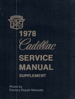 1978 Cadillac Service Manual Supplement