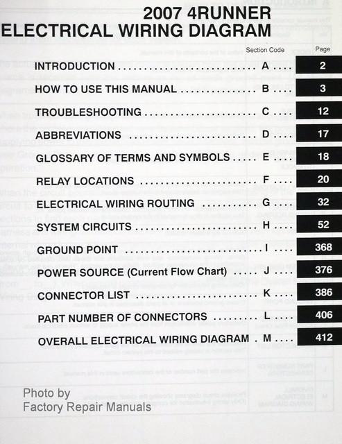 2007 toyota 4runner electrical wiring diagrams original factory rh factoryrepairmanuals com Toyota Sequoia Wiring-Diagram 2007 Dodge Charger Wiring Diagram