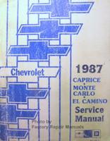 Chevrolet 1987 Caprice Monte Carlo El Camino Service Manual
