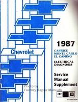 Chevrolet 1987 Caprice Monte Carlo El Camino Electrical Diagnosis Service Manual Supplement