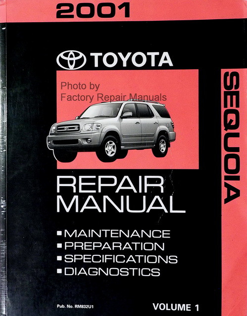 2001 Toyota Sequoia Factory Service Manual - Volume 1 Only