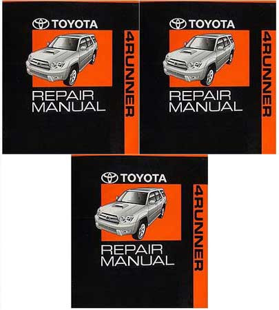 2005 toyota 4runner factory service manual set original shop repair rh factoryrepairmanuals com 2004 toyota 4runner service manual pdf 2004 toyota 4runner service manual pdf