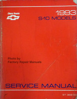Chevrolet 1993 S-10 Models Service Manual