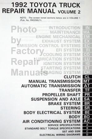 1992 toyota pickup truck factory service manual set original shop rh factoryrepairmanuals com 1985 Ford F-150 Ford Nite
