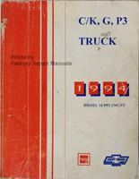 C/K, G, P3 1994 Diesel Supplement GMC Chevrolet