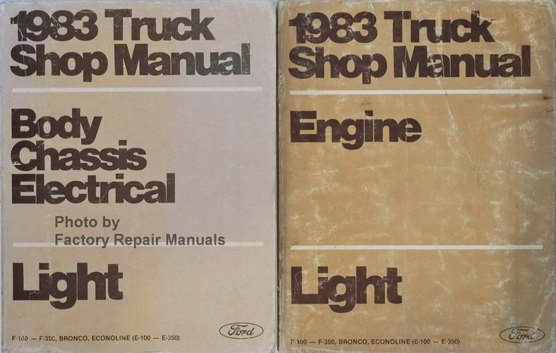1983 Ford F150 F250 F350 Truck Econoline Bronco Factory
