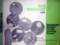 1983 ford Econoline Electrical & Vacuum Troubleshooting Manual
