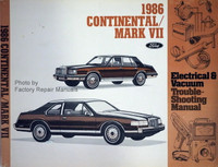 1989 Lincoln Continental/ Mark VII Electrical & Vacuum Troubleshooting Manual