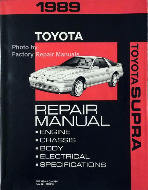1989 toyota supra factory service manual original shop repair rh factoryrepairmanuals com toyota supra repair manual pdf supra repair manual pdf