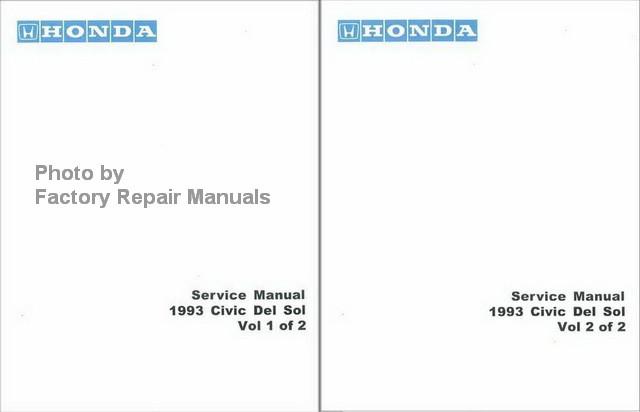 1993 honda civic del sol factory shop service manual reprint rh factoryrepairmanuals com Honda CRX Honda S2000
