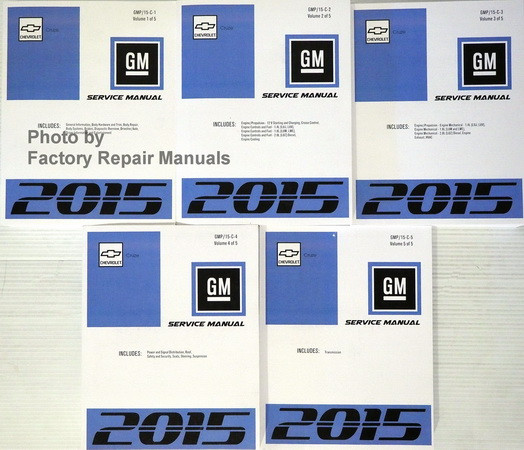 2015 chevy cruze factory service manual complete set
