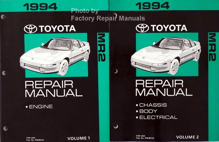 1994 toyota mr2 factory service manual set original shop repair rh factoryrepairmanuals com 1997 Toyota MR2 1989 Toyota MR2