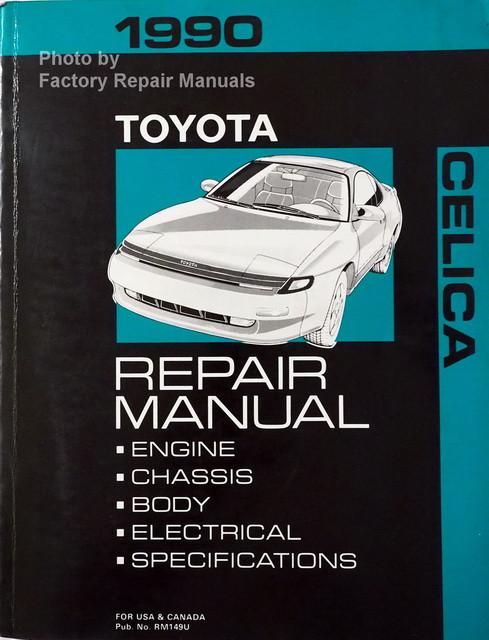 1990 toyota celica factory service manual original shop repair rh factoryrepairmanuals com 1990 toyota celica repair manual free 1991 Toyota Celica