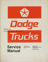 Dodge Truck Models 100-800 Conventional - 4x4 - Forward Control Service Manual Supplement