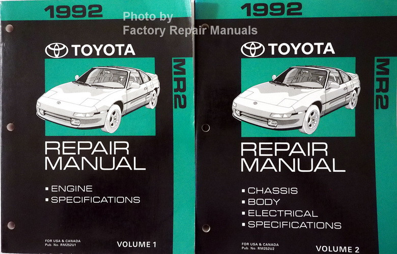 1992 toyota mr2 factory service manual set original shop repair rh factoryrepairmanuals com 1985 Toyota MR2 1999 Toyota MR2
