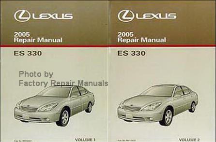 2005 lexus es330 factory service manual set original shop repair rh factoryrepairmanuals com 2005 lexus es 330 owners manual pdf 2005 lexus es 330 service manual