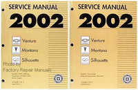 2002 Chevy Venture Olds Silhouette Pontiac Montana Factory Shop Service Manual Set