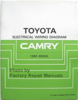 Toyota Electrical Wiring Diagrams Camry 1983 Model