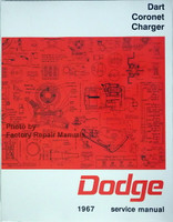 Dart Coronet Charger Dodge 1967 Service Manual