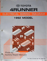 Toyota 4Runner Electrical Wiring Diagram 1992 Model