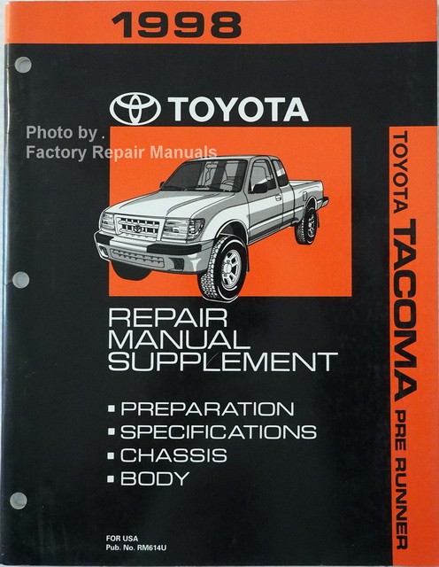 1998 toyota tacoma factory service manual pre runner supplement rh factoryrepairmanuals com 2006 Toyota Tacoma Repair Guide 2007 Toyota Tacoma V6 Engine