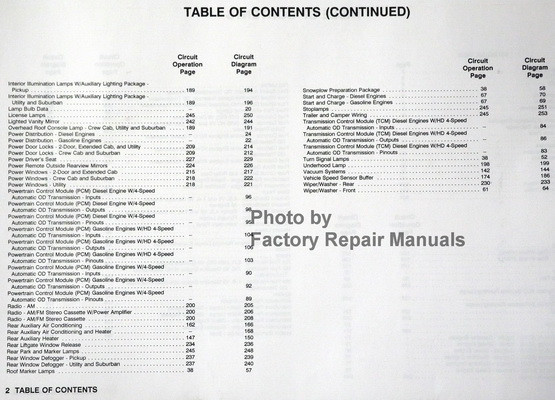 1993 Gmc Truck Sierra Yukon Suburban Electrical Diagnosis