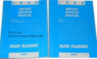 1988 Import Service Manual Ram Raider Volume 1 and 2