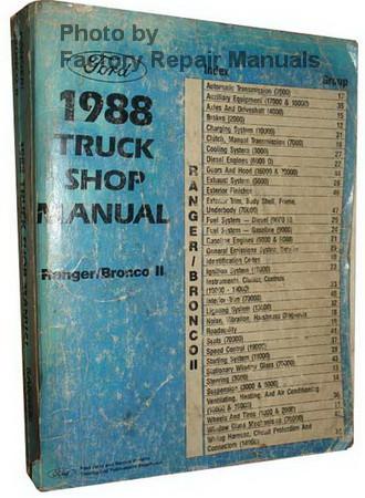 1988 Ford Ranger repair Manual