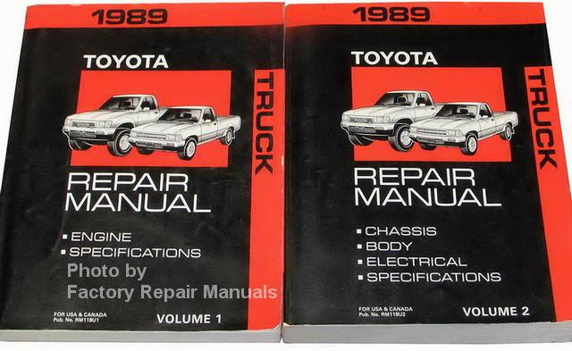 1989 toyota pickup truck factory service manual set original shop rh factoryrepairmanuals com 89 toyota pickup owners manual 1989 toyota pickup owners manual pdf