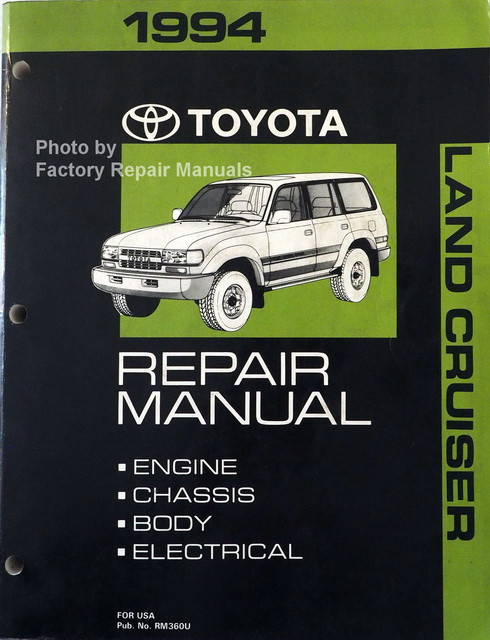 1994 toyota land cruiser factory service manual original shop repair rh factoryrepairmanuals com 1994 toyota land cruiser radio wiring diagram 1991 Toyota Land Cruiser