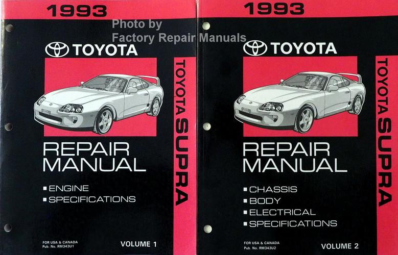 1993 toyota supra factory service manual set original shop repair rh factoryrepairmanuals com 92 Toyota Supra 97 Toyota Supra