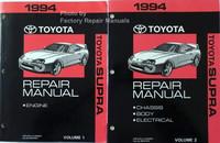 1994 Toyota Supra Repair Manuals Volume 1, 2