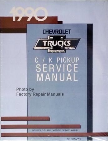 1990 chevy pickup truck c k 1500 2500 3500 factory shop service rh factoryrepairmanuals com Chevrolet Truck Repair Manuals 1990 chevy truck service manual pdf