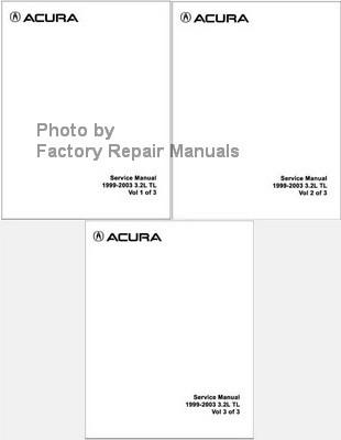 1999 2003 acura 3 2 tl factory service manual set honda shop repair rh factoryrepairmanuals com 2003 Acura TL Type S 2004 Acura 3.2 TL