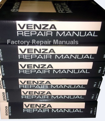 2009 toyota venza factory service manual 6 volume set original shop rh factoryrepairmanuals com 1990 Toyota 4Runner Toyota ManualsOnline