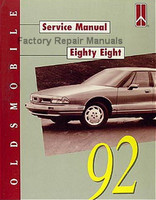 Oldsmobile Service Manual Eighty Eight 1992