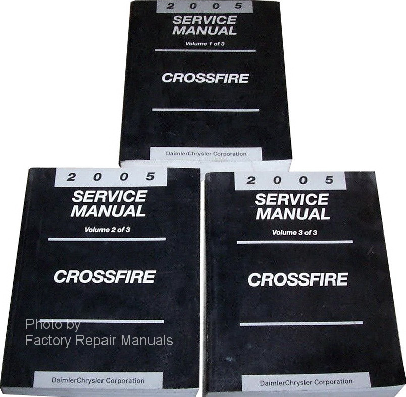 2005 chrysler crossfire factory service manual set original shop rh factoryrepairmanuals com 2005 chrysler crossfire srt-6 owners manual 2005 Chrysler Crossfire Problems